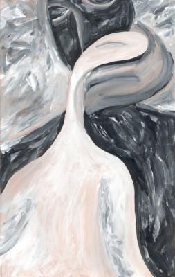 Поцелуй, 2001, гуашь, бумага, 13.5x21