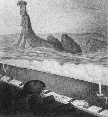 Метеорологический прибор настроений или психографика Альфреда Кубина (Alfred Kubin)