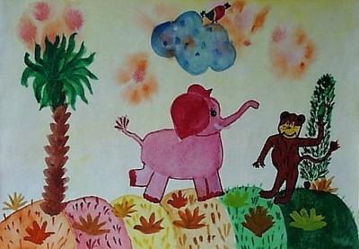 Моя детская сказка о розовом слоненке