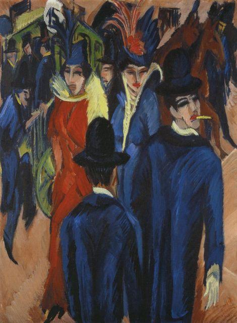Уличные сцены Эрнста Людвига Кирхнера (Ernst Ludwig Kirchner)