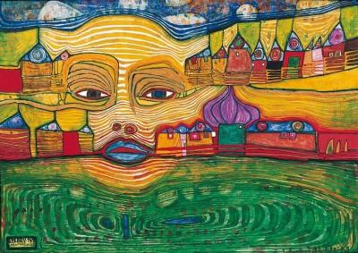 Мерцающие цвета в картинах Фриденсрайха Хундертвассера (Friedensreich Hundertwasser)