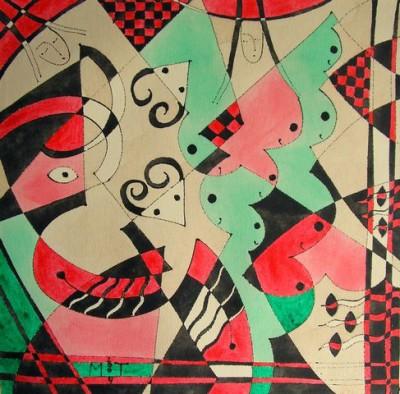 Музыкальная импровизация, 2004, акрилик на полотне