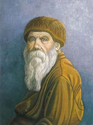 Иван Селиванов. Автопортрет с голубыми глазами. 1976