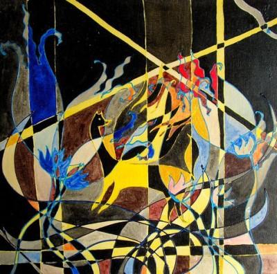 Революция пространства, 2004, акрилик на полотне