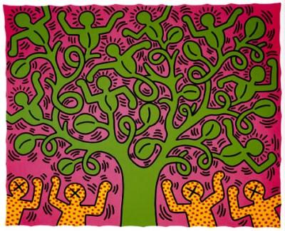 Спонтанные рисунки Кита Харинга (Keith Haring)