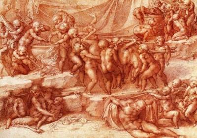 Микеланджело, Вакханалия детей