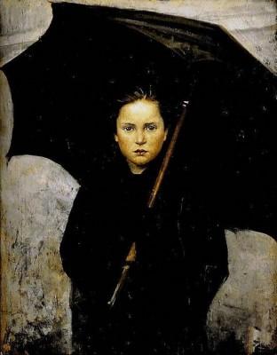 М.Башкирцева. Дождевой зонтик, 1883