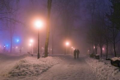 Ночной туман - Украина. Киев.