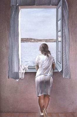 Сальвадор Дали. Женщина у окна