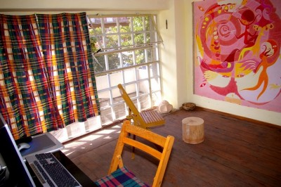 Моя мастерская в лучах летнего солнца.