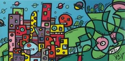 Витражный стиль в живописи Ховарда Сэй-Вивьена (Howard Saye-Vivien)