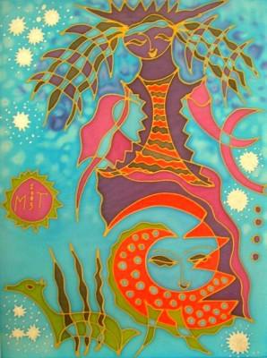Таинственная незнакомка, 2003, батик