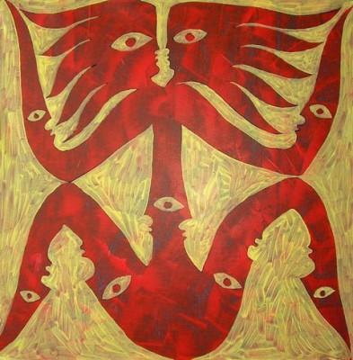 Самосозерцание, 2008, холст, акрил
