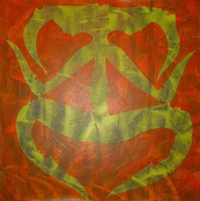 Иероглиф Молчания, 2008, холст, акрил